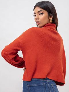 Apparel-Comfort Matters Rust Sweater