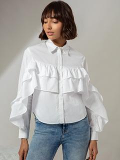 Apparel-Ruffle This Way Again Shirt