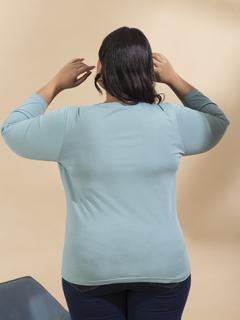 Apparel-Aqua Be Comfortable In Basic Tshirt
