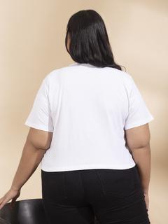 Apparel-White Recreate Trend In Tshirt