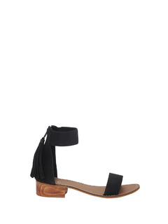 Tasseled Over Style Block Heel
