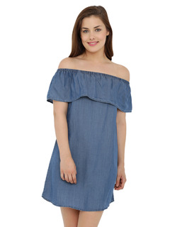 The Bare Bardot Denim Dress