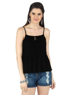 The Black Lacey Peplum Top
