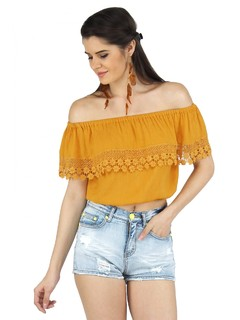 The Bohemain Bardot Crop Top