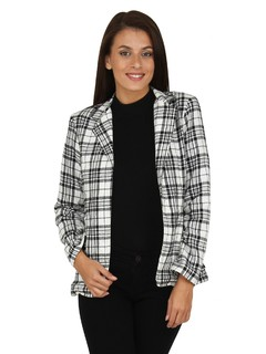 Apparel-The Classic Monochrome Plaid Jacket