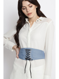The Denim Blues Corset Belt