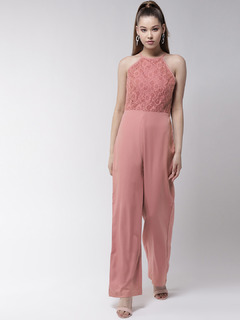 The Lacy Affair Pink Jumpsuit