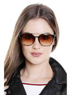 The Leopard Print Topper Sunglasses