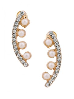 The Pearly Diamond Earring