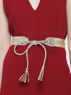 Time To Tie The Knot Braided Gold Belt