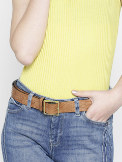 Trendy Fix Brown Textured Belt