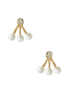 Trio Of Pearls Earring
