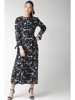 Twirling In Floral Flair Midi Dress