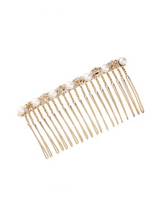 Twisted In Pearls Haircomb