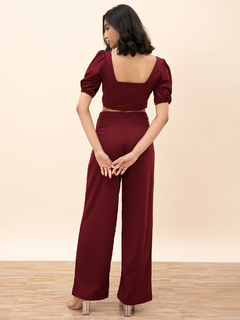 Apparel-Style Becomes You Maroon Pant Coord Set