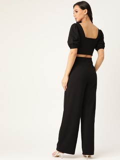 Apparel-Style Becomes You Black Pant Coord Set