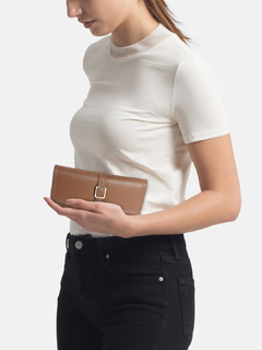 Beige Slide Away Wallet