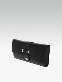 Bags-Black Button Up Wallet