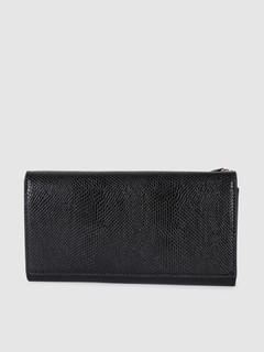 Bags-So Wild Black Animal Print Wallet