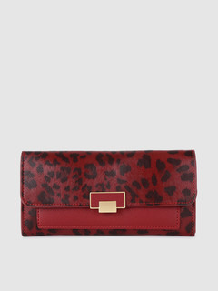 Bags-Wander With Me Red Leopard Print Wallet