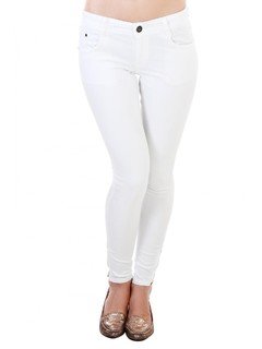 White Ankle Length Zipper Denim