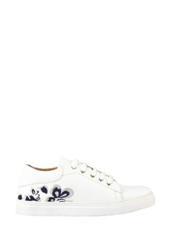 White Budding Blooms Sneakers
