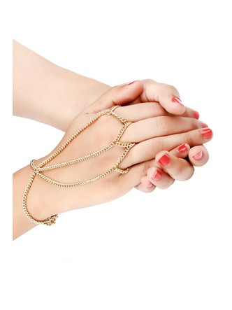Cuffs and Bangles-A Chained Trio Hand Harness1