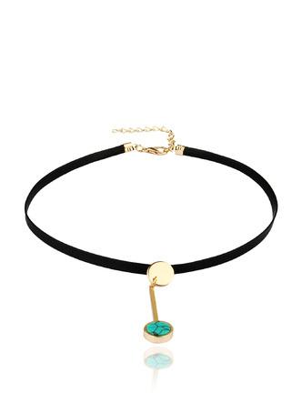 Necklaces-A Drop Of Blue Choker Necklace1