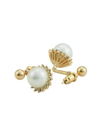 Earrings-A Pearl Flower Earring 3