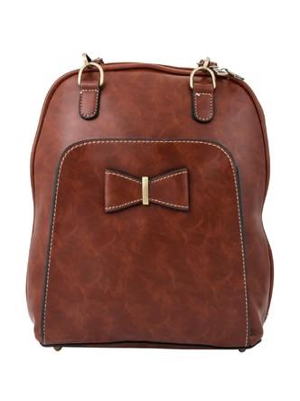 Backpacks-A Pretty Brown Bow Backpack 1