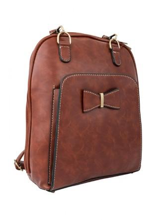 Backpacks-A Pretty Brown Bow Backpack 4