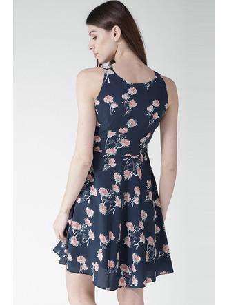 Dresses-A Sea Of Blue Florals Dress3