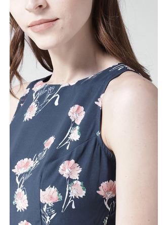 Dresses-A Sea Of Blue Florals Dress5