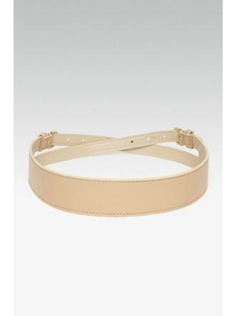 Belts-All For Wraps Beige Waist Belt1