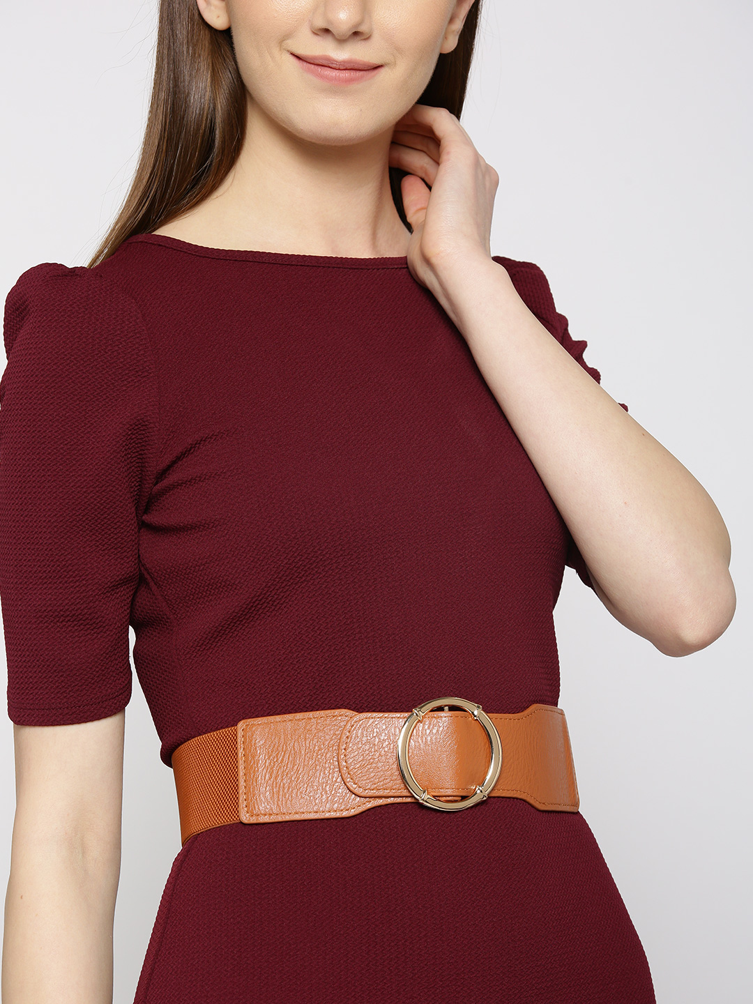 Belts-Brown Stay In Our Circle Waist Belt1