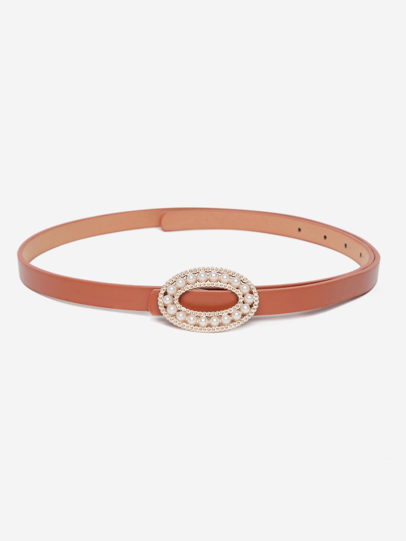 Belts-Circle Of Pearls Brown Belt1