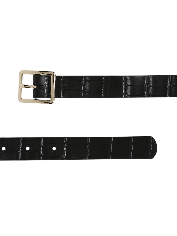 Belts-Black Stay In Texture Bag Belt5