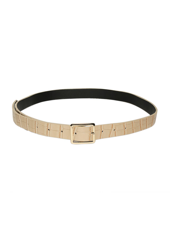 Belts-Cream Stay In Texture Bag Belt2