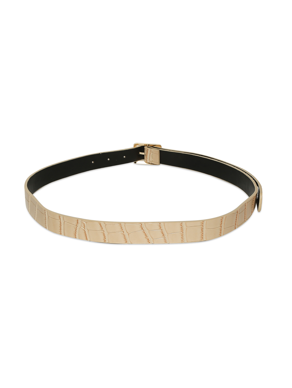 Belts-Cream Stay In Texture Bag Belt3