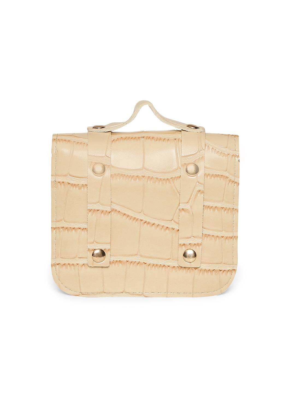 Belts-Cream Stay In Texture Bag Belt6
