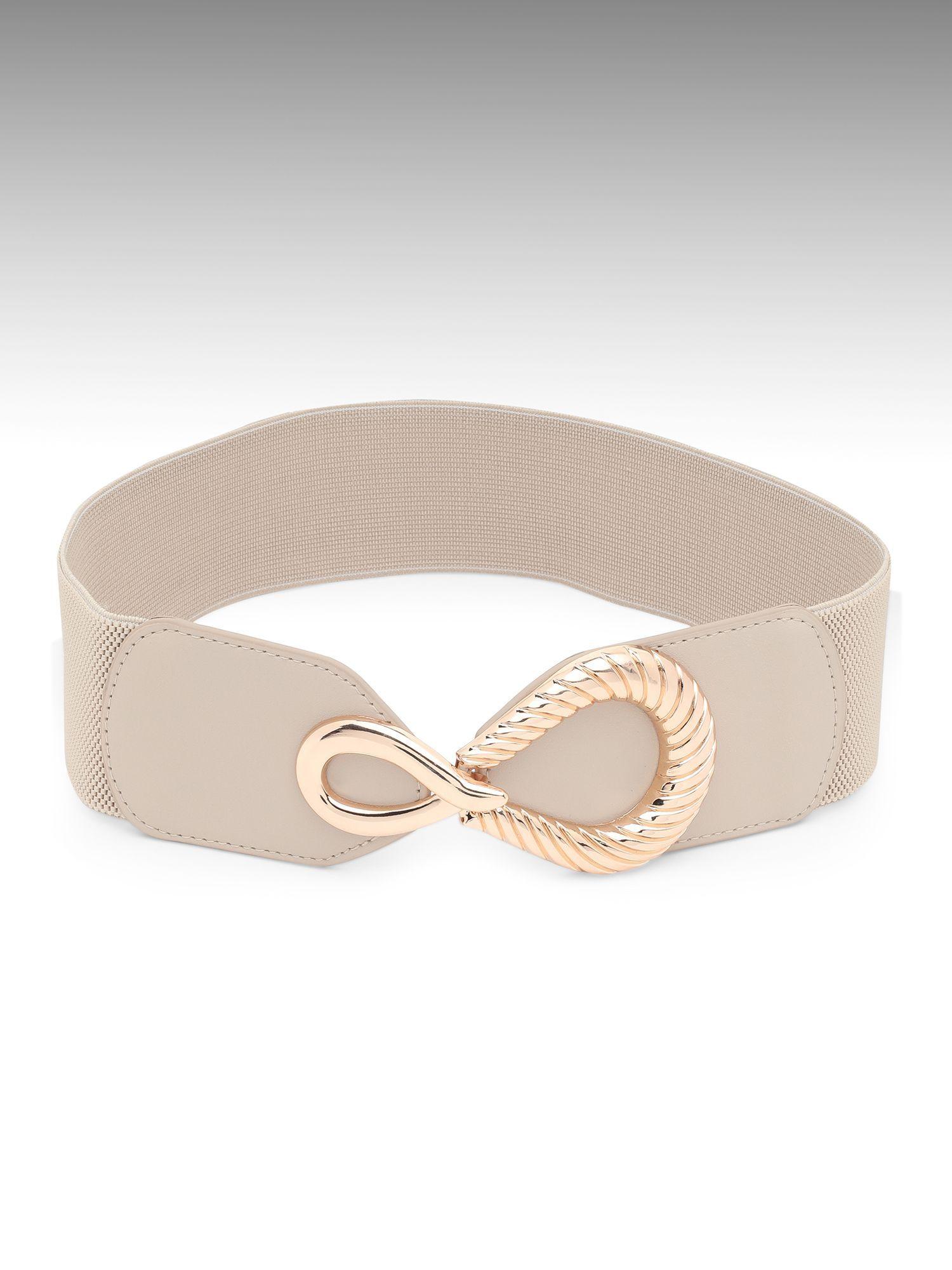 Belts-Beige Loosen Up With Style Belt3