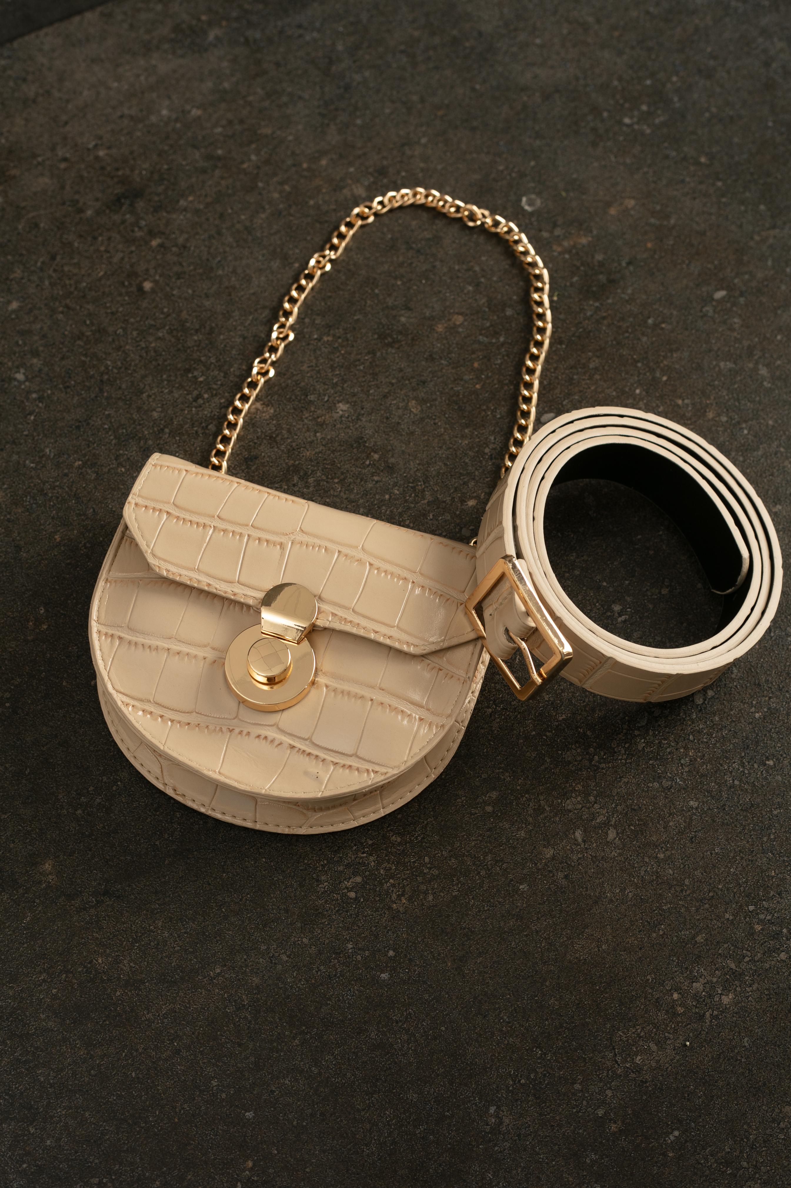Belts-Beige Just A Wild Thing Belt Bag1