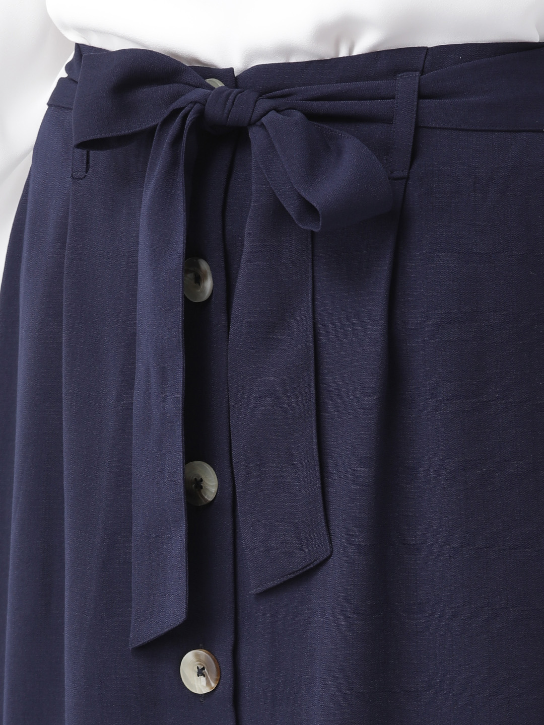 Shorts and Skirts-Navy Blue The Sweet Spot Button Down Skirt3
