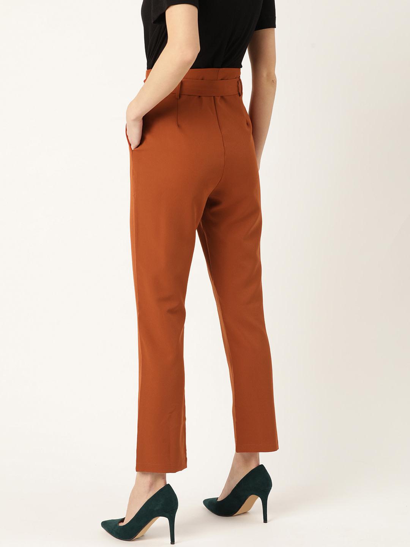 Pants and Palazzos-Rust Fly High Pants3