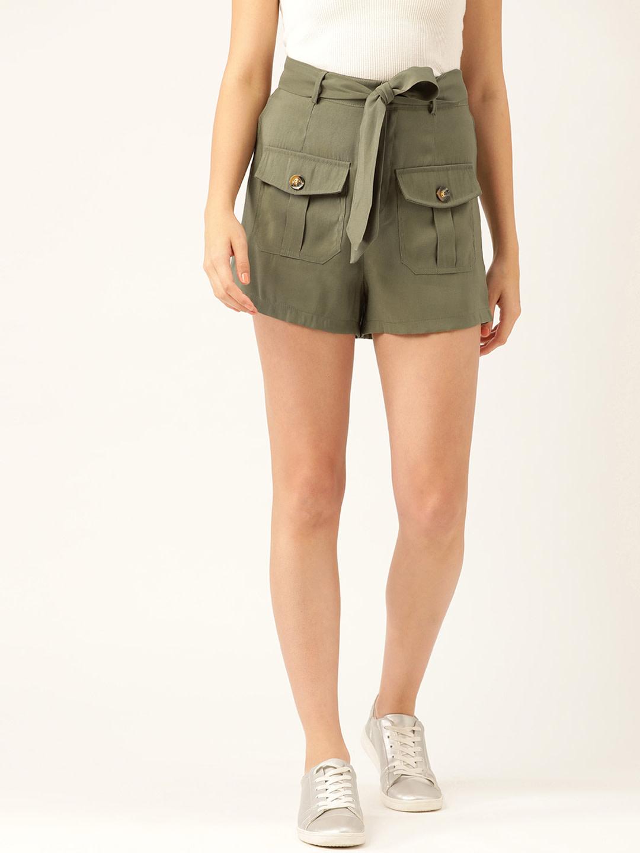 Shorts and Skirts-Olive Green Safari Bug Shorts1