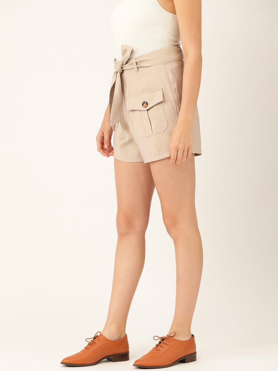 Shorts and Skirts-Beige Safari Bug Shorts2