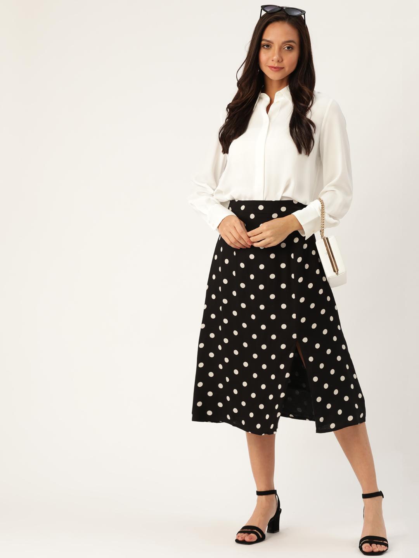 Shorts and Skirts-On The Dot Midi Skirt2