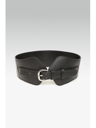 Belts-Band Of Braid Black Waist Belt2