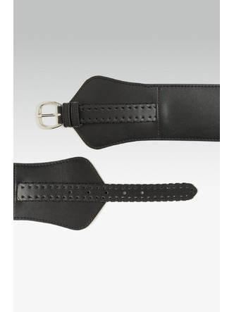 Belts-Band Of Braid Black Waist Belt4