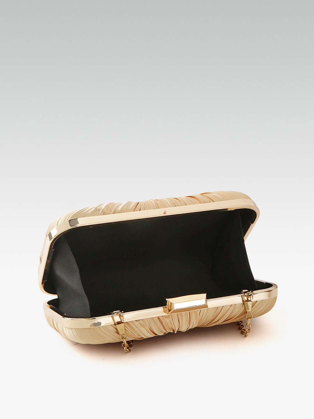 Clutches-Beaming In Drape Gold Clutch5